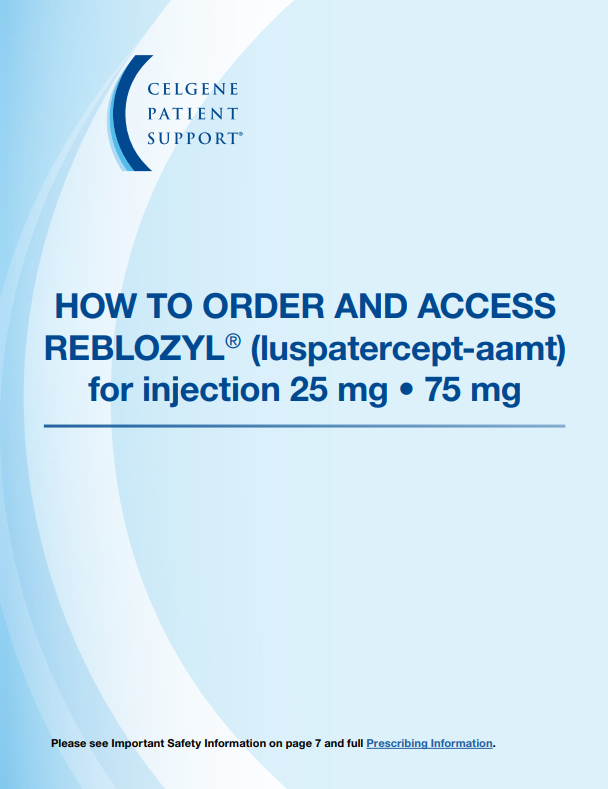 How to Order & Access REBLOZYL® Brochure.