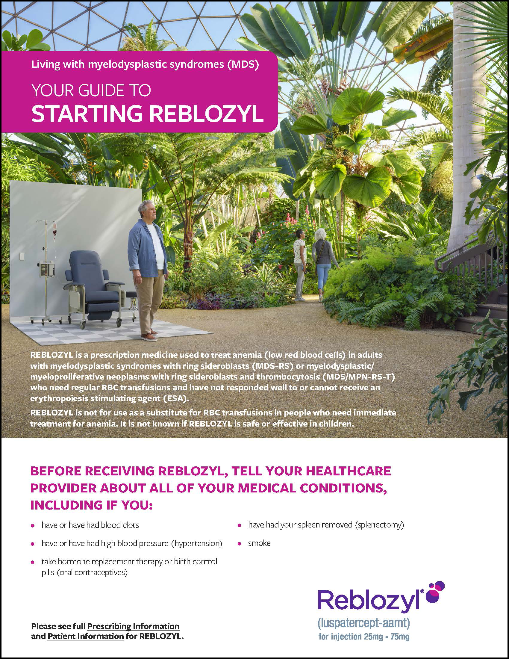REBLOZYL MDS Patient Brochure