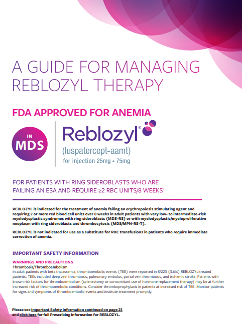 REBLOZYL Dosing & Reconstitution Guide.